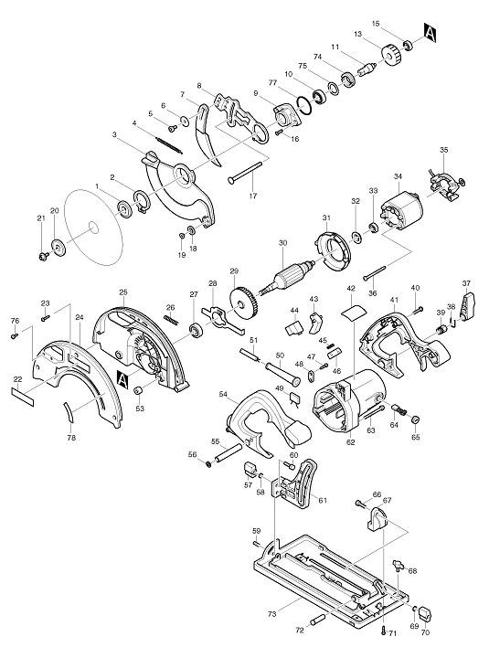 pieces detachees scie circulaire makita 5705r scies. Black Bedroom Furniture Sets. Home Design Ideas