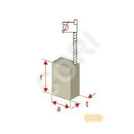 125-14de 5x10x17mm 2138 AGP 150-14ceq Charbon Balais pour protool AGP 125-14d