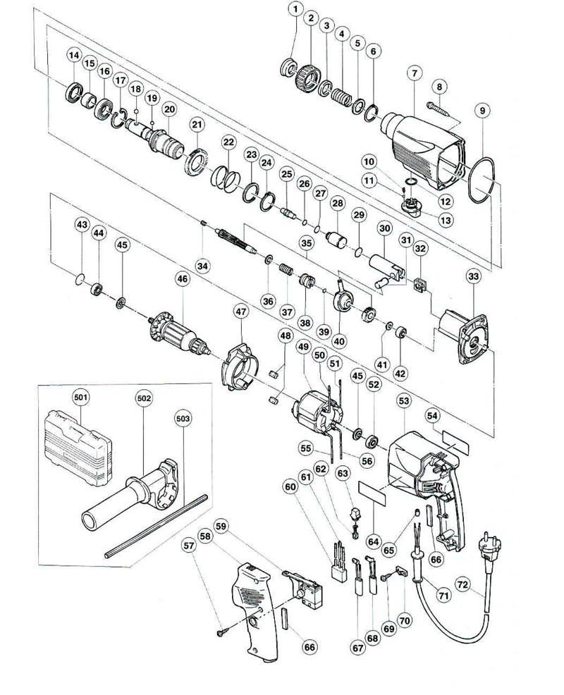 pieces detachees perforateur hitachi